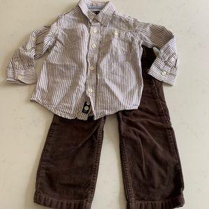 Boys shirt and pants